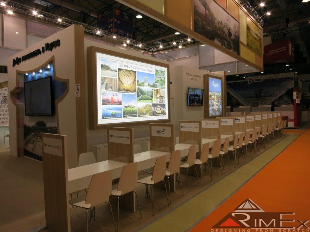 выставочный стенд для министерства туризма кореи на выставке mitt