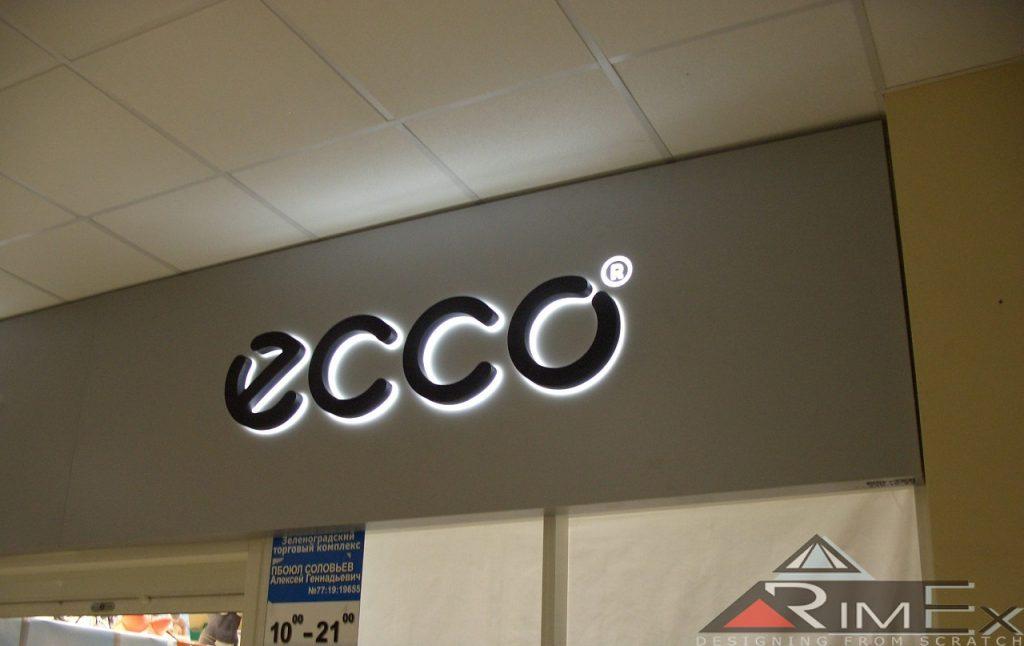 Объемные буквы ecco