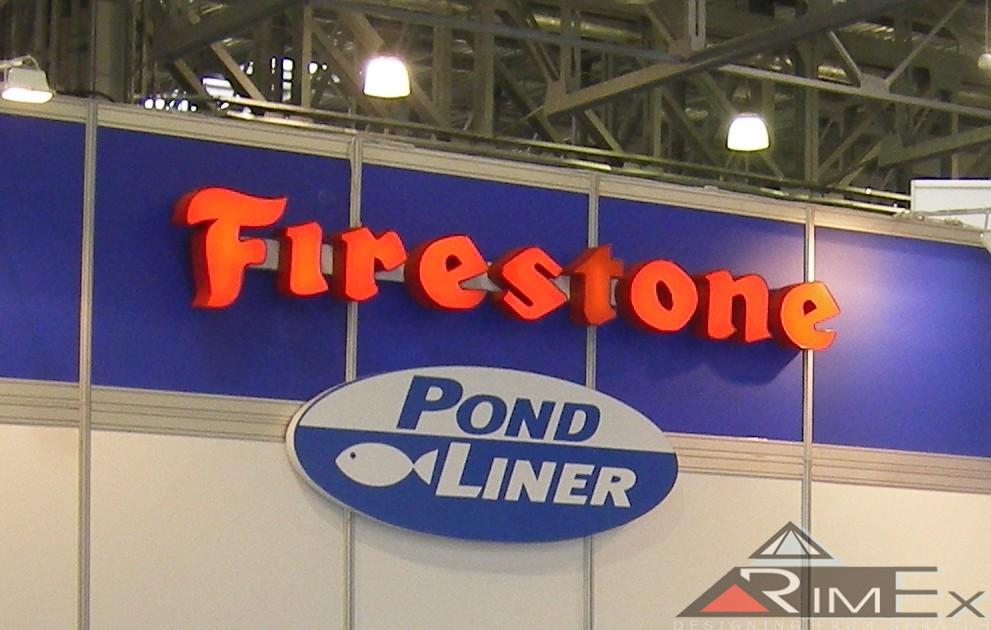 Объемные буквы Firestone