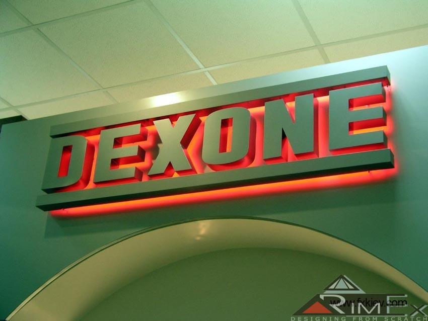 Объемные световые буквы Dexone