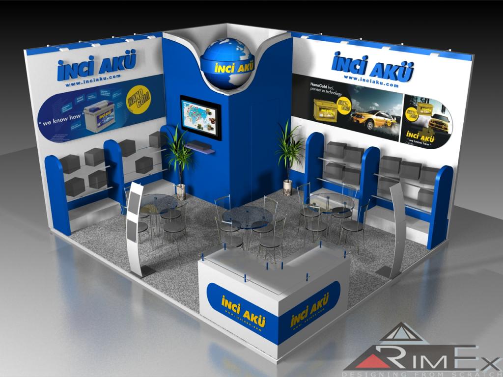 эксклюзивный стенд для INCI AKU- на выставке Автомеханика