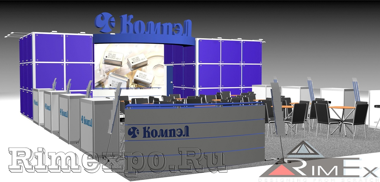 Стенд для компании Компэл на выставку Электро и ЧипЭкспо