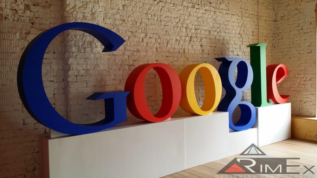 Объемные буквы Google