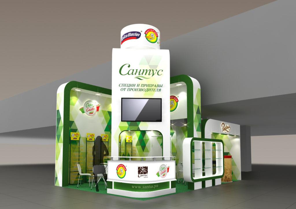выставочный стенд для Сантус. выставка продэкспо 2020